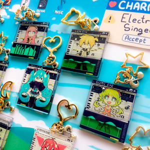 [3D Acrylic Charms] Electronic Singers