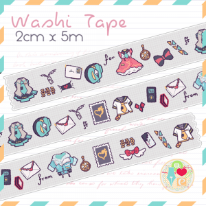 [PREORDER] Washi Tape: dynaMic Letter